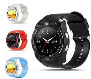 2020 New Arrival 8 Colors V8 Smart Watch Phone Bluetooth 3.0 IPS HD Full Circle Display MTK6261D Smartwatch
