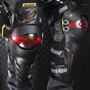Cojines de la rodilla de la motocicleta LED LED Joelheira Moto Motocross Guards Riding Kneepad MX Protector de rodilla Equipo protector CE EN1621-11
