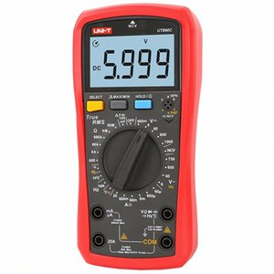 Brand New UNI-T UT890C Истинный RMS AC / DC Частота температуры Цифровой мультиметр с ЖК-подсветкой Handeled Оригинальный a9ya #