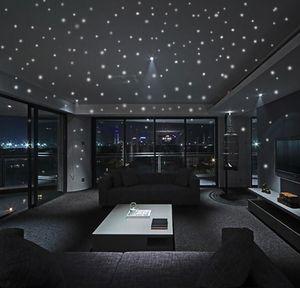 Resplandor caliente en el punto redondo Pegatinas de estrella oscura Etiquetas engomadas de vinilo luminosas como estrella en la noche Roma Jlvvvf FFSHOP2001