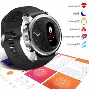 Android ve iOS için Torntisc Çift Ekran Akıllı İzle Erkekler IP68 su geçirmez Nabız Tansiyon İleti itin Smartwatch