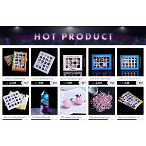 20-in-1 Kombinasyon Set Doğal Kaya Kristal Mineral Takı Ev Dekorasyon Çalışma Odası Dekorasyon DIY Hediye de Qylghr