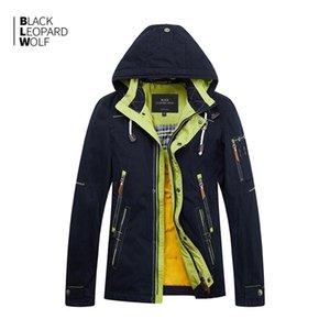 BLACKLEOPARDWOLF Yeni Varış Bahar Ceket Erkekler Kalın Pamuk Yüksek Kalite Bir Hood Ile Bahar ZC-027 2012424