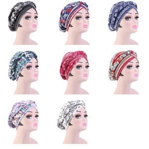 National Hair Cap For Sleeping Turban Twist Braid Bohemian Headcover Hat Headband Cotton Bonnet Haircare Styling Coloring