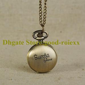 Großhandel Geschenk Vintage Version Frauen Männer Taschenuhr Halskette Zubehör Pullover Kette Damen Hängende Herren Quarz Uhren AA00164