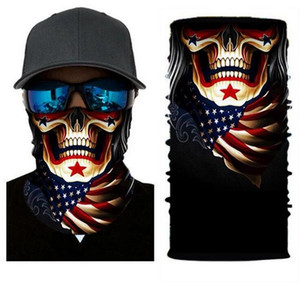 3D Printed Multi-function Magic Bicycle Scarf Ski Skull Half Face Mask Neck Cover Scarf Anti-UV Cycling Bandana Outdoor Sports Headwear XIC3