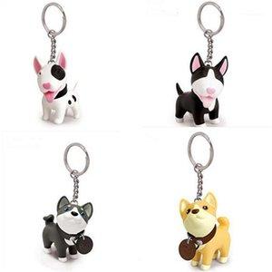 Llaveros Figura de acción de perro PVC Vinyl Doll Anime Toys Llaveros lindos para el titular de la llave del coche Terri Excelente regalo1