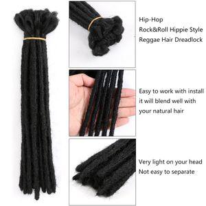 Shanghair Короткие Дреды Наращивания Волос Для Хип-Хмеля Черных Мужчин Синтетические Reggae Волосы Pure Color 1strands Для Пакета