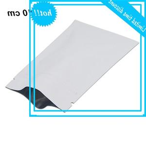 7x10 cm (2.8x3.9 polegada) 200 pcs REUSABLE SACO MERCADOR MYLAR Packing material Zipper Alimentos Bolsa Matte Branco RESABILE BOOKYS Pacote
