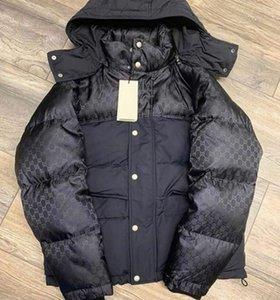 Jacket Chic Men baixo Curto Longo Designer Masculino Zipper Inverno com capuz Outwear Moda Reflective cinta elástica Grosso gola Brasão de Down