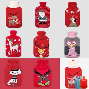 0.5 1 2l Cute Christmas Cartoon Hot Water Bottle With Knit Bottle Cover Large Capacity Household Rubber Warm Hand Home Winter jllrqG