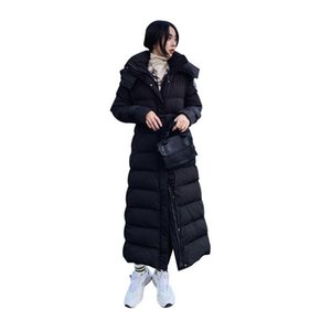 Women X-Long Winter Jacket Hooded Belted Windproof Warm BIO down jacket Oversize Cotton padded Parkas Casaco Feminino