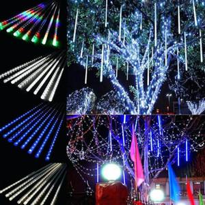 30CM 8 المصابيح / مجموعة زينة عيد الميلاد أضواء النيزك دش مصباح مجموعة LED ضوء بار ديكور الخفيفة في الهواء الطلق أنبوب ماء الضوء الملون