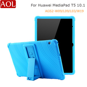 "Silicon Case For Huawei MediaPad T5 AGS2-W09 L09 L03 W19 10.1"" Tablet stand cover for huawei mediapad T5 10 Soft Rubber case"