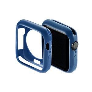 для случая яблока часов Крышка для iwatch бампера 38мм 40мм 42мм 44мм конфеты цвет TPU протектор Ультра-тонкая рамка полосы мягкой оболочки с OPP мешки