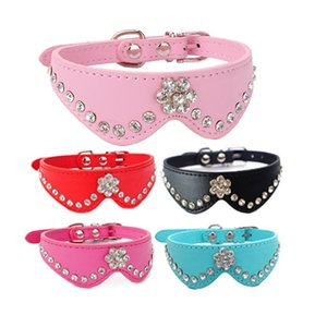 Bow Sytles Pu Leather Rhinestone Pattern Cat Dog Collar and Pet Leashes Set