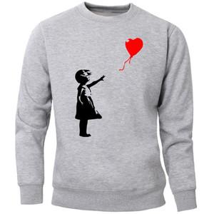World Peace Sweatshirt Men Hoodies Kcco Balloon Girl Banksy Pullover Crewneck Hoodie Sweatshirts 2020 Streetwear Jumper Hoody