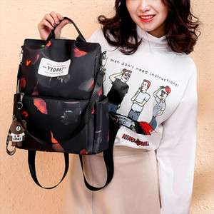 Women Anti theft Oxford School Backpack Travel Waterproof Satchel Shoulder Bag BY