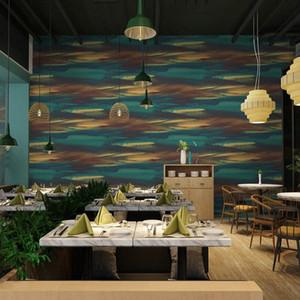 Lancadeco PVC Fond d'écran d'art moderne nordique fond coloré Home Décor étanche Livingroom Chambre Bar Restaurant Roll eGgM #