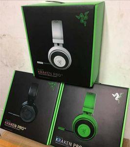 2020 Razer Kraken Pro V2 auriculares Auriculares analógicos de juego completamente retráctil con cojines de oval de micrófono para PC Xbox One y PlayStation 4