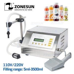 ZONESUN GFK160 Líquidos eléctricos digitales Máquina de llenado Máquina de bombeo de agua Equipo de envasado automático de bebidas, 3.5L1
