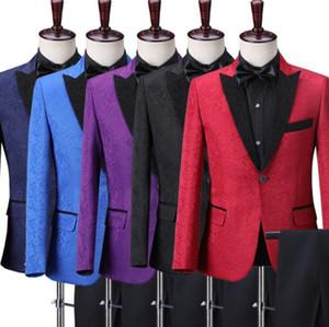 Chorus host master ceremonies wedding suits men blazer boys prom mariage suits fashion slim masculino latest coat pant designs