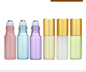 5ML Roll On Bottle Pearl Lustre Colors Rollon Metal Roller Ball Bottle Essential Oil Liquid fragrance