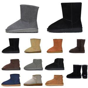 مفاجأة! وصول النساء في الهواء الطلق الكلاسيكية حذاء الثلوج الكاحل قصيرة التمهيد القوس الخرفان الكستناء نساء في فصل الشتاء الأزياء والأحذية في الهواء الطلق حجم 36-41