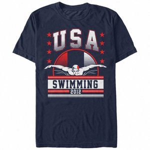 Verlorene Gods USA Swimminging 2012 Mens-Grafik-T-Shirt trZX #