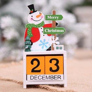 3D Noel Ahşap Takvim Sevimli Santa Milu Geyik Kardan Adam Baskılı Takvim Çocuk Hediyeler Parti Hediyeler Noel Süslemeleri EWD2699