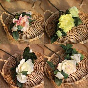 الحرير الاصطناعي حديقيا النباتات نباتات روز الزهور جاردينيا jasminides زهرة وهمية زخرفة الزفاف المنزل 2019NEW1
