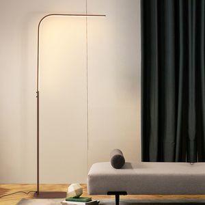 Modern LED Ayaklı Lambalar Salon LED Zemin Daimi Aile Odaları Yatak Ofisleri Dim Aydınlatma standı lambası Luminaria ışıkları