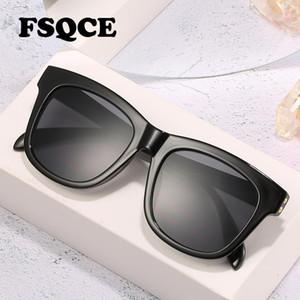 FSQCE Retro Gradiente Square Gafas de sol Plaza Gafas Mujeres Vintage Gafas de sol Feminino UV400