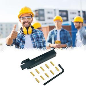 Ranurado Herramientas externa soporte con Inserciones de carburo Torno cortadora de placas Torno de inflexión de las herramientas del conjunto de despedida