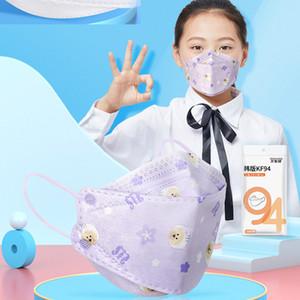 Free shipping children's masks new designer fashion KF94 masks multicolor cartoon pattern masks adjustable dustproof and haze face mask