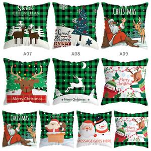 Natal fronha alces travesseiro carro caso sofá árvore de Natal capa de almofada verde da manta capa de almofada curta de pelúcia travesseiro T2I51580