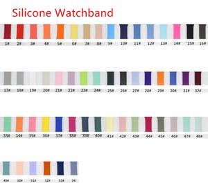 Мягкий силиконовый ремешок ремешок для яблока Часов серия 1 2 3 4 5 6 38мм 42мм 40мм 44мм iwatch диапазон