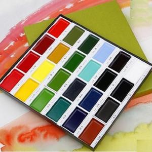Kuretake solid watercolor paint 12 18 24 36 colors for choose pigment art supplies1