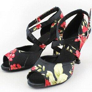 Venda quente- estilo chinês latin dança sapatos fundo macio para mulheres sapatos em plaza de salto baixo salão de baile sapatos barato moda dança