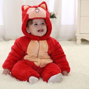 Flannel Baby Pajamas Newborn Infant Romper Animal Onesie Costume Hooded Jumpsuit Winter Spring Suit