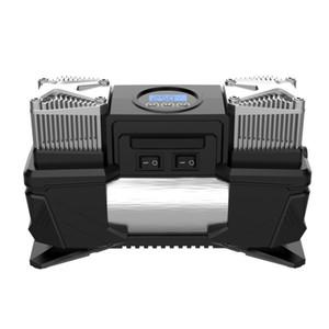 12V Araç Çift Silindir Taşınabilir Dijital Lastik Şişirme Pompa, Yüksek Güç Lastik Hava Kompresörü, Oto Hava Pompası Monteli