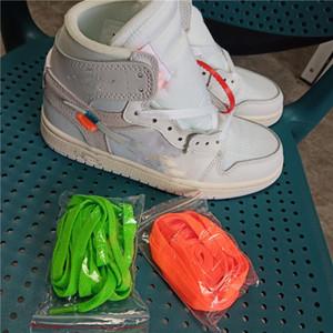 NIKE Air Jordan 1 Off White AJ1  2021 Designer per bambini Designer Scarpe per bambini Autunno New Boys and Girls Pantofole Due colori possono scegliere la moda Casual SA