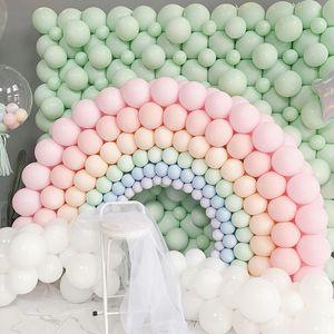 100pcs 10inch Macaron Latexballons Pastellzucker Ballon-Geburtstags-Party-Dekorationen für Kinder Air Helium-Babyparty Hochzeit Globos Balloon Arch