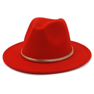 Felt Fedora Hat Women Men Wide Brim Hats Top Cap Man Jazz Panama Hat Ladies Caps mens Trilby autumn winter Fashion Accessories 2021 NEW