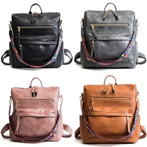 Women Big Girls Fashion PU Leather Backpack Purse Waterproof School book bag Crossbody Shoulder Large Bag multifunction handbag Z0149