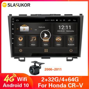 4G Android 10 Carro Rádio Multimedia Video Player Autoradio para Honda CRV CR-V 2006-2012 Carro Estéreo Audio GPS Navegação No 2 Din