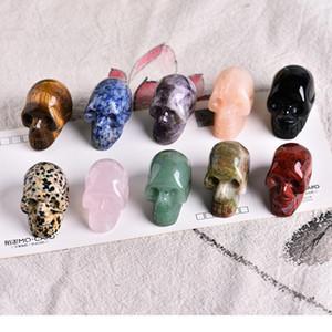 Abay 1 unid Cristal Natural Cuarzo Joyería Mineral Rosa Cuarzo Cráneo Cristal Talla Decoración del hogar Halloween y DIY Dec JllnMC
