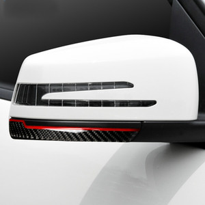 Carbon Fiber Rearview Mirror Anti-rub Strips Anti-collision Protector Sticker for Benz Mercedes W204 W212 A B C E G GLA GLE GLK