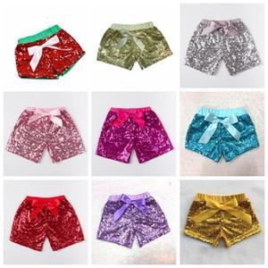 Children Girls Sequins Kids Designer Clothes Infant Glitter Bling Dance Boutique Casual Pants Fashion Bow Princess Shorts C300