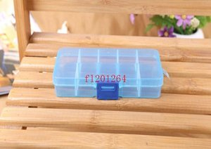 FedEx DHL Envío gratis Ajustable 10 compartimento Caja de almacenamiento transparente de plástico para la herramienta Pendiente de la joyería Conta JLLLSQV BDEBAG